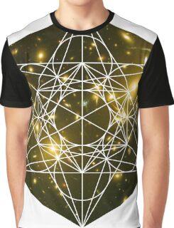 Lost Galaxy | Metatron Sacred Geometry Sticker Graphic T-Shirt