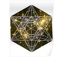 Lost Galaxy | Metatron Sacred Geometry Sticker Poster