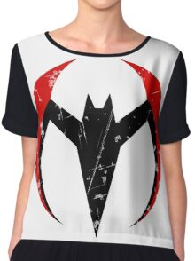 Batman Beyond - Batarang Distressed Chiffon Top