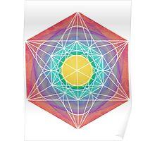 Eye of 24 | Metatron Sacred Geometry Sticker Poster