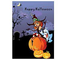 Halloween theme design illustration Photographic Print