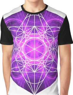 Purple Circles | Metatron Sacred Geometry Sticker Graphic T-Shirt
