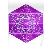 Mew's Sacred Energy [Close] | Metatron Sacred Geometry Sticker Poster