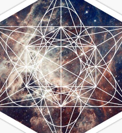 Star Clouds | Metatron Sacred Geometry Sticker Sticker