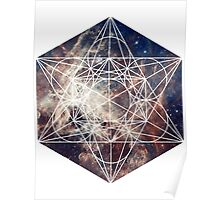 Star Clouds | Metatron Sacred Geometry Sticker Poster