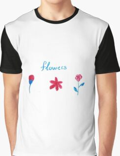 Hand draw flowers  Graphic T-Shirt