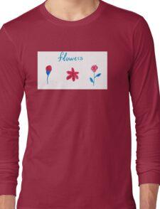 Hand draw flowers  Long Sleeve T-Shirt