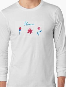 Hand draw flowers  Long Sleeve T-Shirt