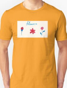 Hand draw flowers  Unisex T-Shirt