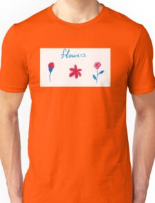 Hand draw flowers  Unisex T-Shirt