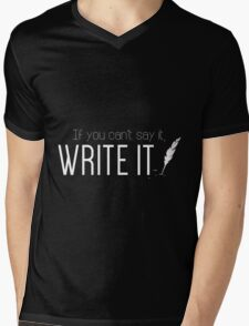 Writing urges #1 Mens V-Neck T-Shirt