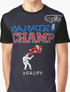 Karate Champ Retro Videogame Graphic T-Shirt