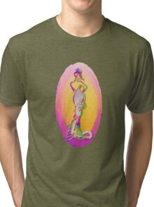 Fashion Sketch, Beautiful Woman Art Tri-blend T-Shirt