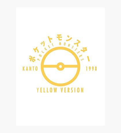 Pokemon Yellow Version Photographic Print