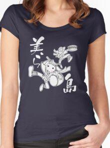 Okinawa Eisa, ChuraShima Women's Fitted Scoop T-Shirt