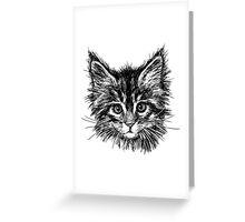 Hand drawn cats head  Greeting Card