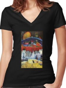 Radiohead album covers Women's Fitted V-Neck T-Shirt