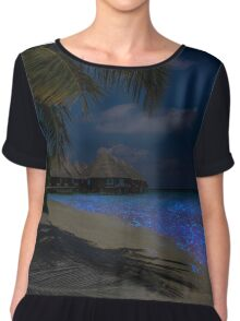 Fluorescent plankton in the Maldives - Indian Ocean Chiffon Top