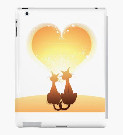 Cat love valentine iPad Case/Skin