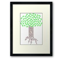 Music Tree in Color Framed Print