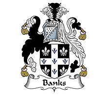 Banks Coat of Arms / Banks Family Crest Photographic Print