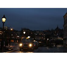 Stockholm Taxi Photographic Print