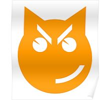 Smirking Emoji Cat Poster