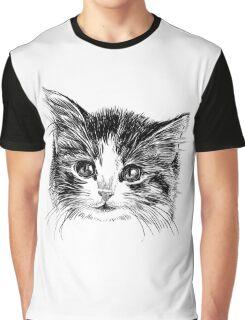 Cartoon purple cat Graphic T-Shirt