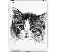 Cartoon purple cat iPad Case/Skin