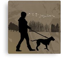 Walking the Dog 2012 Canvas Print