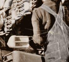 Black Women Load Gas Cans WWII Sticker