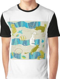 Cute cartoon pattern Graphic T-Shirt