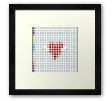 808 LP Dots Framed Print