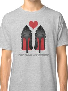 LOUBOUTINS ARE A GIRL'S BEST FRIEND WITH HEART - MARYLIN MONROE Classic T-Shirt
