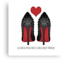LOUBOUTINS ARE A GIRL'S BEST FRIEND WITH HEART - MARYLIN MONROE Canvas Print