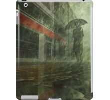 Walking in the rain iPad Case/Skin