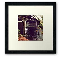 Under the Fall Bridge Framed Print