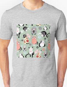 Naughty cat pattern Unisex T-Shirt