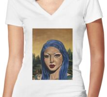 Scarlett Lash  Women's Fitted V-Neck T-Shirt