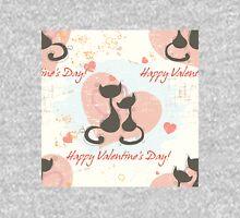 Cute kitten happy valentine's day Unisex T-Shirt