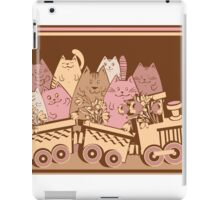 Amusing cartoon toy train cats design iPad Case/Skin