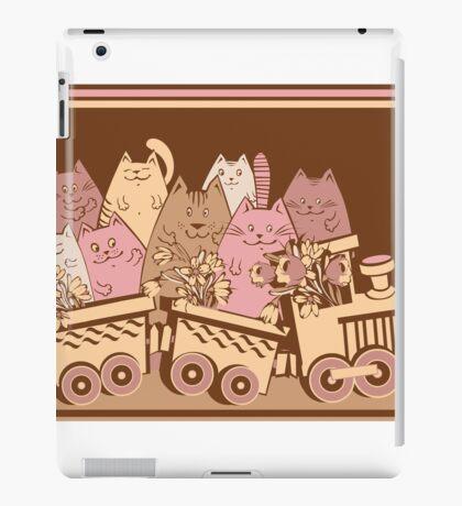 Amusing cartoon toy train cats design iPad Case/Skin