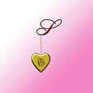 S Golden Heart Locket by Chere Lei