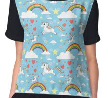 Unicorn Pattern Kids Chiffon Top