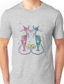 Amusing Christmas cats graphics Unisex T-Shirt