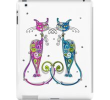 Amusing Christmas cats graphics iPad Case/Skin
