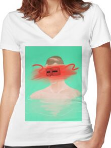 The Fall– Masked Bandit Women's Fitted V-Neck T-Shirt