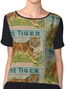 The Tiger Safety Matches Chiffon Top