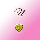U Golden Heart Locket by Chere Lei