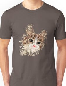 Brown cat painting Unisex T-Shirt